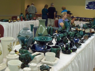 Setup Displays at the Blue Mountain Pottery Convention