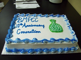 Cake at the 10th Anniversary of the Blue Mountain Pottery Collectors Club